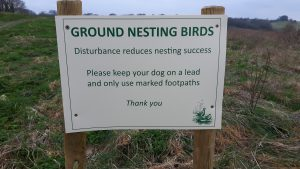 Ground nesting bird sign